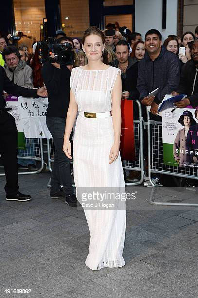 Romola Garai attends a screening of 'Suffragette' on the opening night of the BFI London Film Festival at Odeon Leicester Square on October 7 2015 in...
