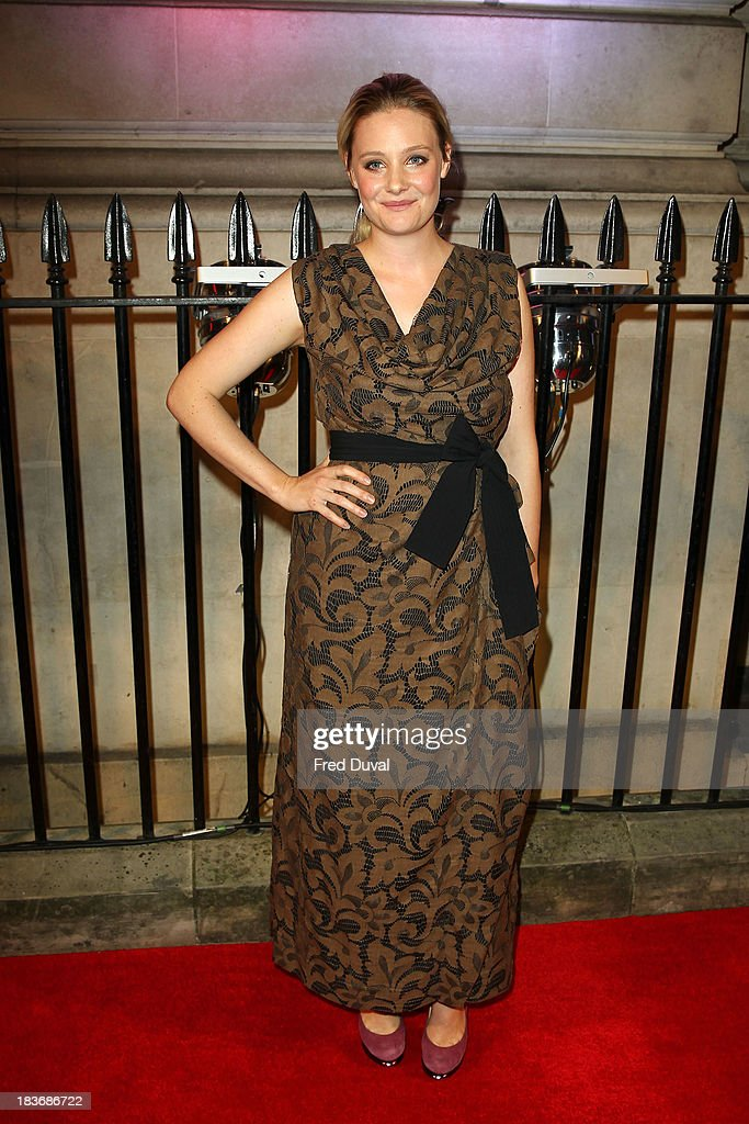 <a gi-track='captionPersonalityLinkClicked' href=/galleries/search?phrase=Romola+Garai&family=editorial&specificpeople=240734 ng-click='$event.stopPropagation()'>Romola Garai</a> attends the BFI Gala Dinner at 8 Northumberland Avenue on October 8, 2013 in London, England.