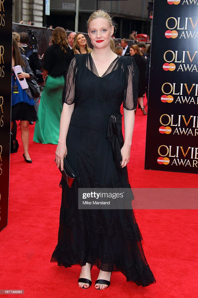 Romola Garai attends The Laurence Olivier Awards at The Royal Opera House on April 28, 2013 in London, England.