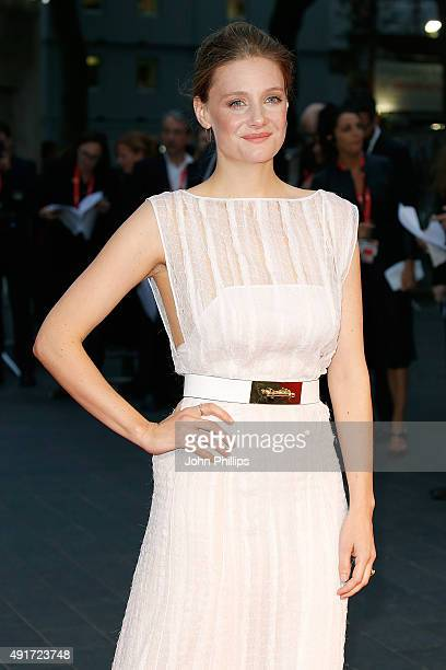 Romola Garai attends the 'Suffragette' premiere during the opening night gala during the BFI London Film Festival at Leicester Square on October 7...