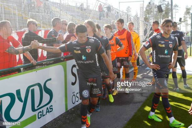 Romário Pereira Sipiao of Kalmar FF is dejected after the Allsvenskan match between Ostersunds FK and Kalmar FF at Jamtkraft Arena on May 20 2017 in...