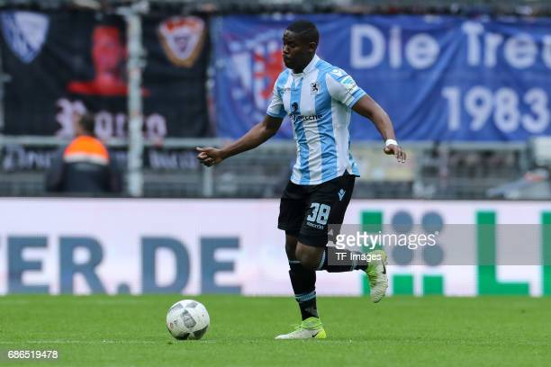 Romuald Lacazette of 1860 Munich controls the ball during the Second Bundesliga match between TSV 1860 Muenchen and VfL Bochum at Allianz Arena on...