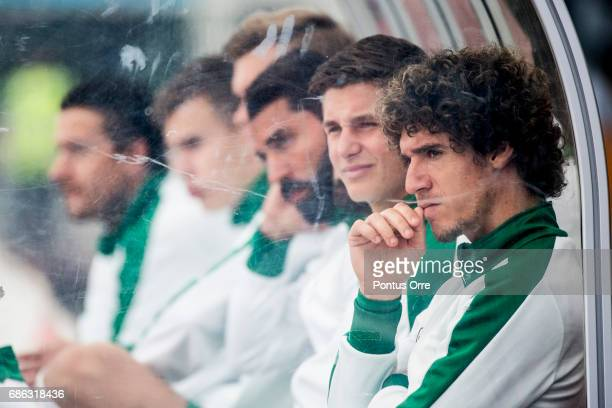 Romulo Pereira Pinto of Hammarby IF on the bench during the Allsvenskan match between IK Sirius FK and Hammarby IF at Studenternas IP on May 21 2017...