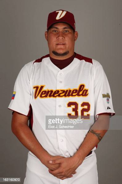 Romulo Sanchez of Team Venezuela poses for a headshot for the 2013 World Baseball Classic at Roger Dean Stadium on Monday March 4 2013 in Jupiter...