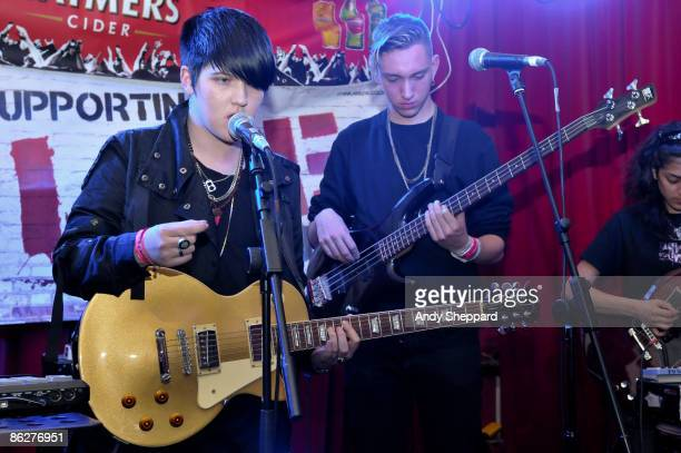 Romy and Oliver of The XX perform on stage at the Barfly as part of the Camden Crawl on April 24 2009 in London England
