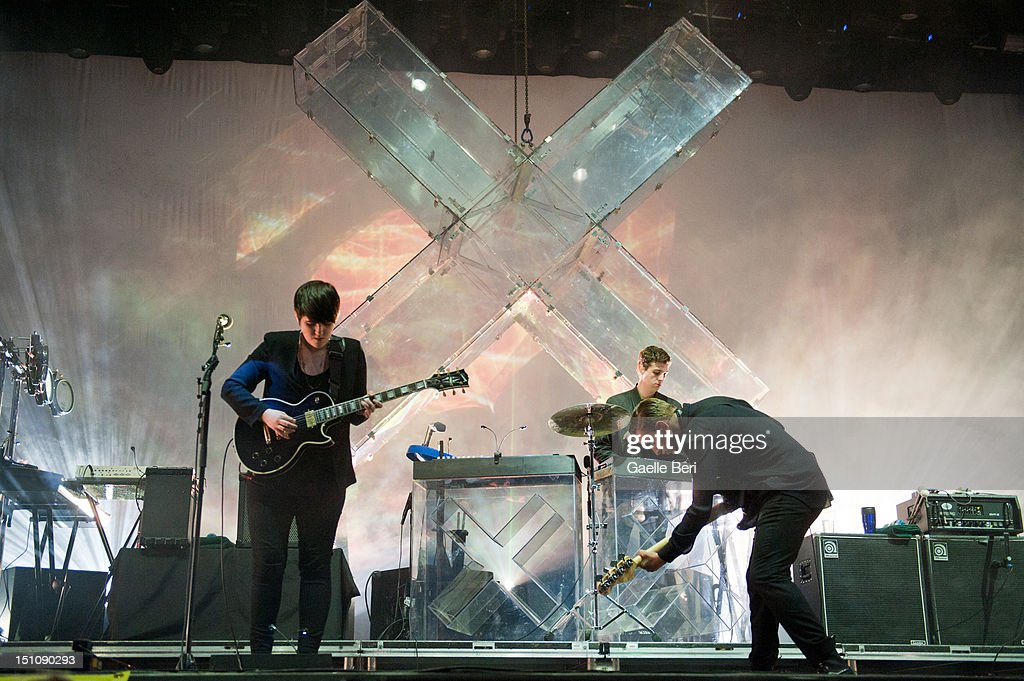 Romy Croft, Jamie Smith and Oliver Sim of The xx perform on stage during Electric Picnic on August 31, 2012 in Stradbally, Ireland.