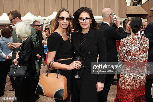 Romy Frydman and Camilla Freedman arrive at the Australian Fashion Laureate Awards at Sydney Opera House on October 23 2015 in Sydney Australia