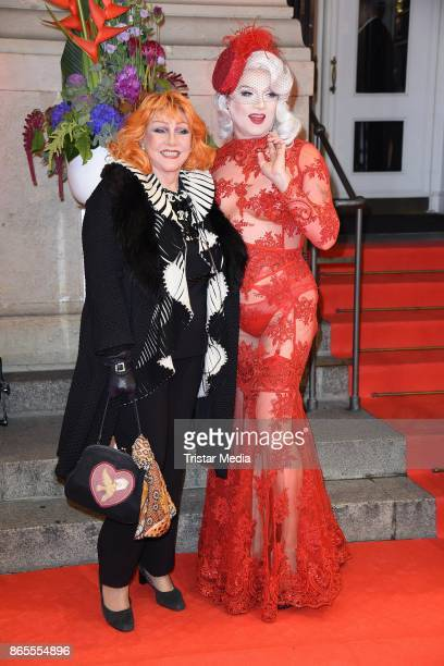 Romy Haag and Sheila Wolf attend the Artists Against Aids Gala at Stage Theater des Westens on October 23 2017 in Berlin Germany