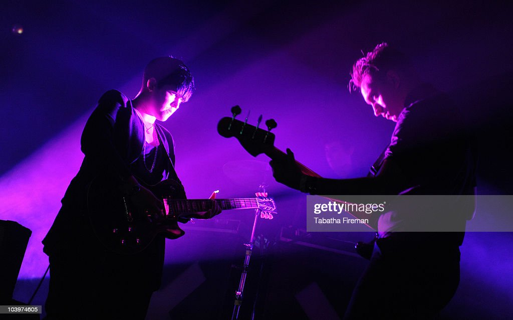 Romy Madley Croft and Oliver Sim of Mercury Music Prize winners The xx perform on the Big Top stage during the second day of Bestival at Robin Hill...