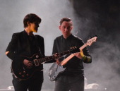 Romy Madley Croft and Oliver Sim of The XX perform during the 2013 Bonnaroo Music Arts Festival on June 14 2013 in Manchester Tennessee