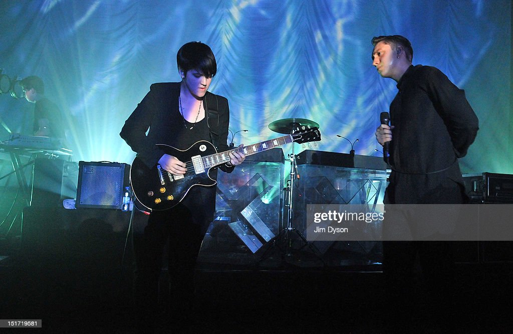 Romy Madley Croft and Oliver Sim of The XX perform live on stage at Shepherds Bush Empire to support the release of their second album Coexist on...