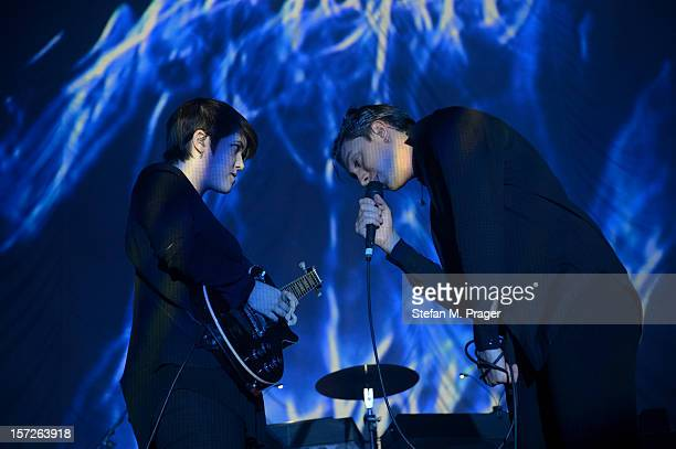 Romy Madley Croft and Oliver Sim of The XX performs at Zenith on November 30 2012 in Munich Germany