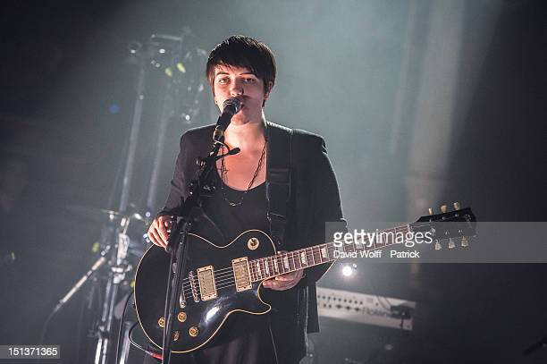 Romy Madley Croft from The XX Performs at Le Cirque d'Hiver on September 6 2012 in Paris France