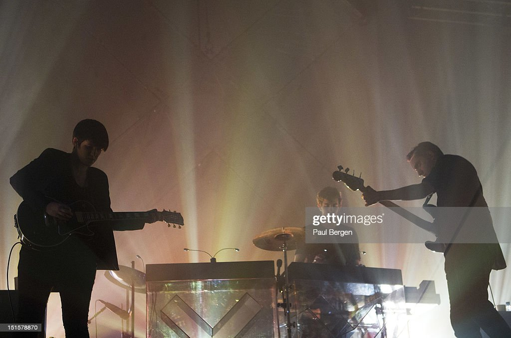 Romy Madley Croft, Jamie Smith and Oliver Sim of The XX perform on stage, Lowlands festival, Biddinghuizen, Netherlands, 18 August 2012.