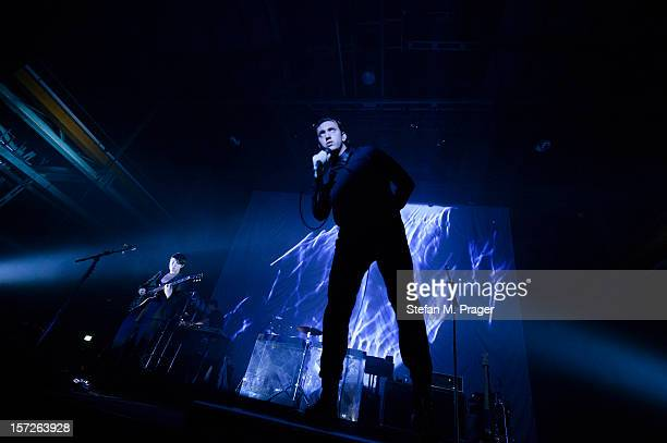 Romy Madley Croft Jamie Smith and Oliver Sim of The XX performs at Zenith on November 30 2012 in Munich Germany