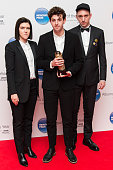 Romy Madley Croft Jamie xx and Oliver Sim of The XX attend the Mercury Music Prize at BBC Broadcasting House on November 20 2015 in London England