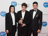 Romy Madley Croft Jamie XX and Oliver Sim of The XX attend the Mercury Prize at BBC Radio Theatre on November 20 2015 in London England