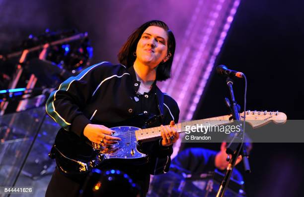 Romy Madley Croft of The XX headlines on The Castle Stage during Day 2 of Bestival at Lulworth Castle on September 8 2017 in Wareham England