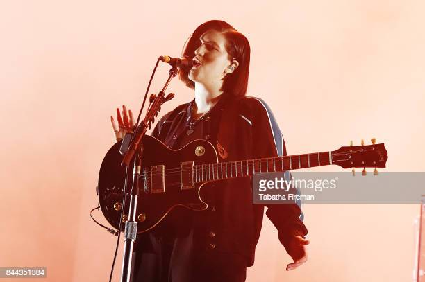 Romy Madley Croft of The XX headlines the Castle Stage on Day 2 of Bestival at Lulworth Castle on September 8 2017 in Wareham England