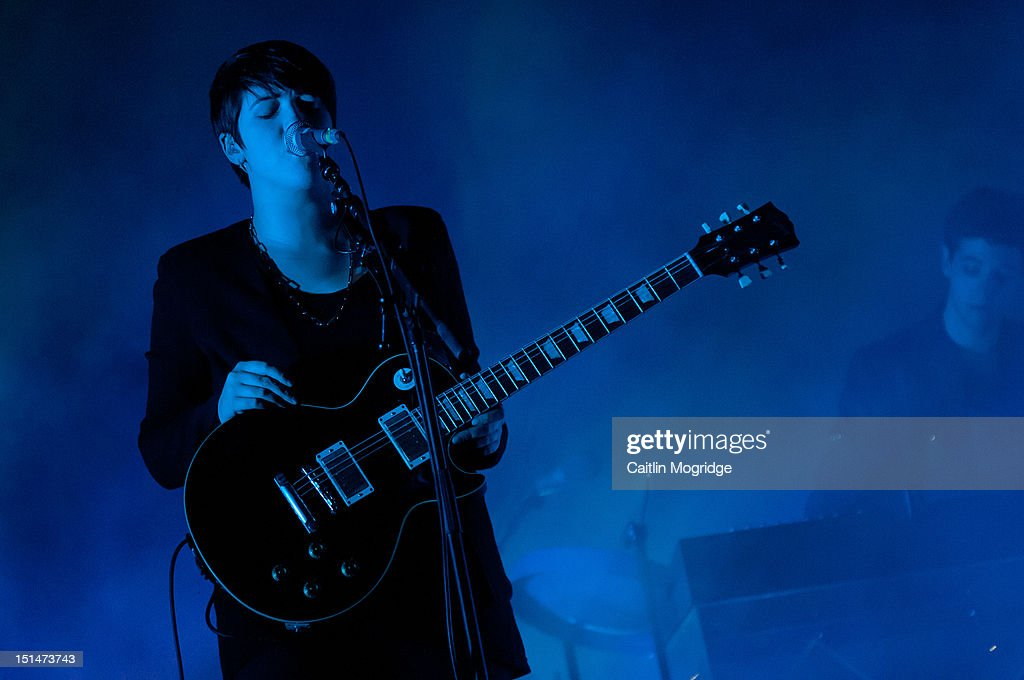 <a gi-track='captionPersonalityLinkClicked' href=/galleries/search?phrase=Romy+Madley+Croft&family=editorial&specificpeople=6078322 ng-click='$event.stopPropagation()'>Romy Madley Croft</a> of the XX perform on stage at Bestival at Robin Hill Country Park on September 7, 2012 in Newport, United Kingdom.