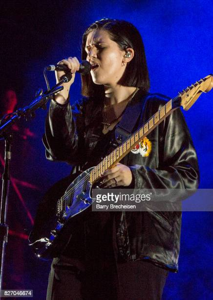Romy Madley Croft of The xx performs at Grant Park on August 5 2017 in Chicago Illinois