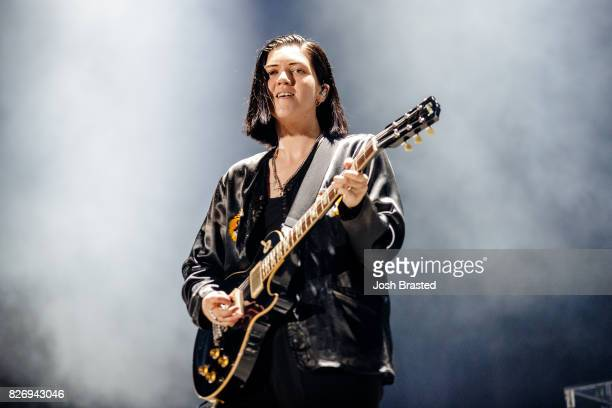 Romy Madley Croft of The XX performs at Lollapalooza 2017 at Grant Park on August 5 2017 in Chicago Illinois