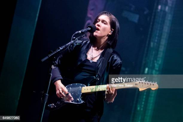 Romy Madley Croft of The XX performs at the O2 Academy Brixton on March 8 2017 in London United Kingdom