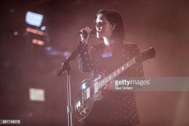 Romy Madley Croft of The XX performs in concert during day 3 of Primavera Sound 2017 on June 2 2017 in Barcelona Spain