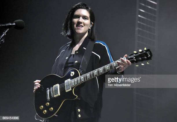 Romy Madley Croft of The xx performs in support of the band's 'I See You' release at Bill Graham Civic Auditorium on April 16 2017 in San Francisco...
