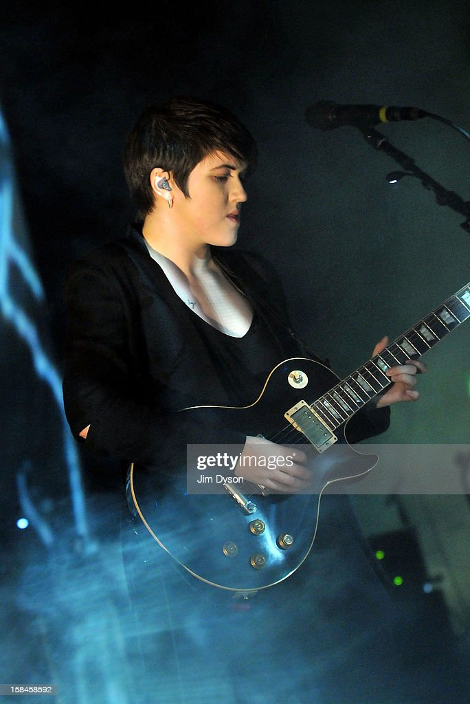 <a gi-track='captionPersonalityLinkClicked' href=/galleries/search?phrase=Romy+Madley+Croft&family=editorial&specificpeople=6078322 ng-click='$event.stopPropagation()'>Romy Madley Croft</a> of The XX performs live on stage at Brixton Academy on December 16, 2012 in London, England.