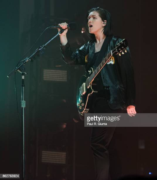 Romy Madley Croft of The XX performs on stage at Coca Cola Roxy on October 17 2017 in Atlanta Georgia