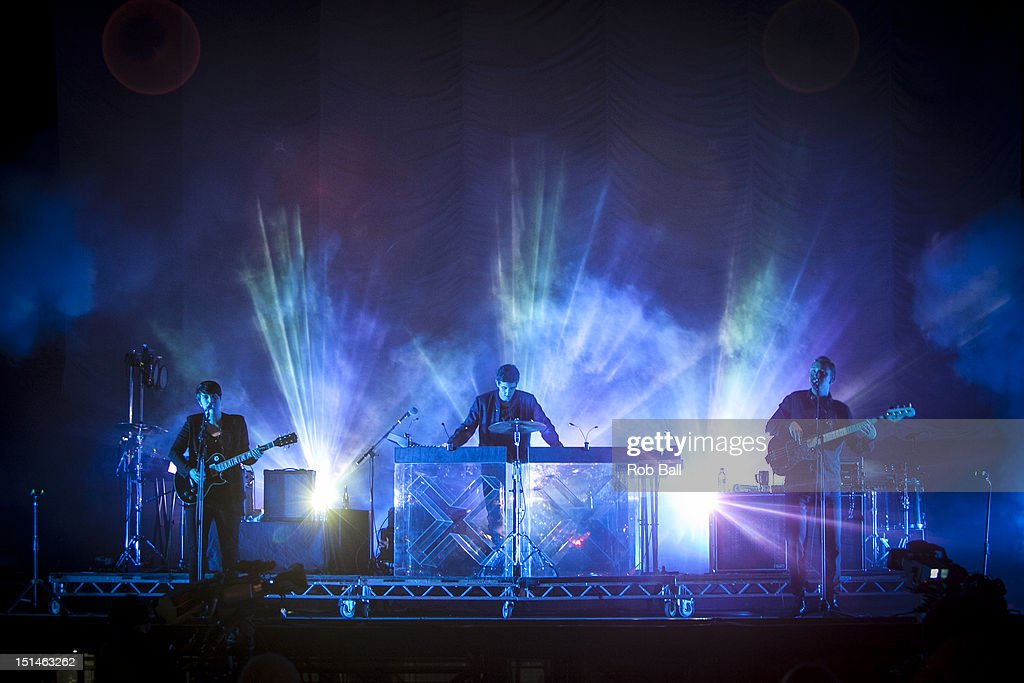 Romy Madley Croft, Oliver Sim and Jamie Smith from the XX performs at Bestival 2012 at Robin Hill Country Park on September 7, 2012 in Newport, Isle of Wight.