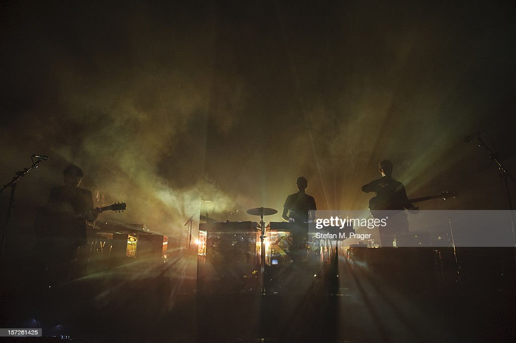 Romy Madley Croft, Oliver Sim and Jamie Smith of The XX perform at Zenith on November 30, 2012 in Munich, Germany.
