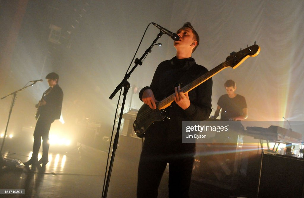Romy Madley Croft Oliver Sim and Jamie Smith of The XX perform live on stage at Shepherds Bush Empire to support the release of their second album...