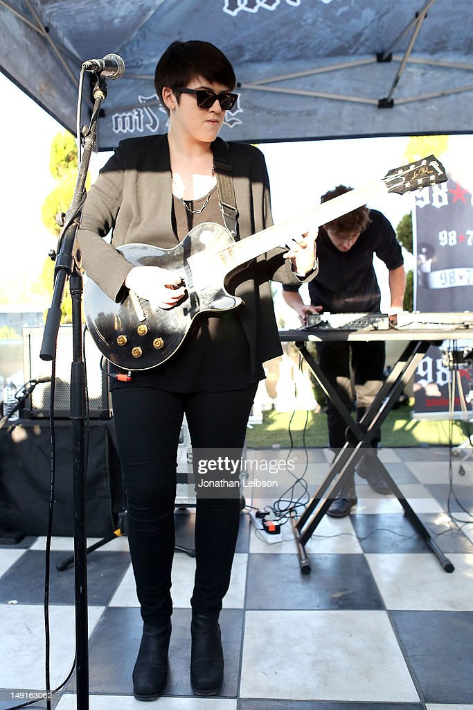 Romy Madley Croft performs at the 98.7 FM Penthouse Party Presents The xx Exclusive Live Performance at The Historic Hollywood Tower on July 23, 2012 in Hollywood, California.