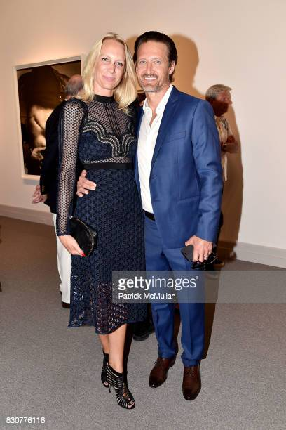 Romy Rodiek and Patrick Pilloni attend the Guild Hall 2017 Summer Gala Celebrating AVEDON'S AMERICA at Guild Hall on August 11 2017 in East Hampton...