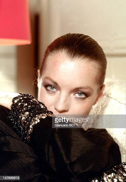 Romy Schneider at home 1974 in France