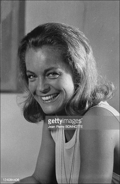Retro Romy Schneider In France In August 1998 Shooting of 'La Piscine'