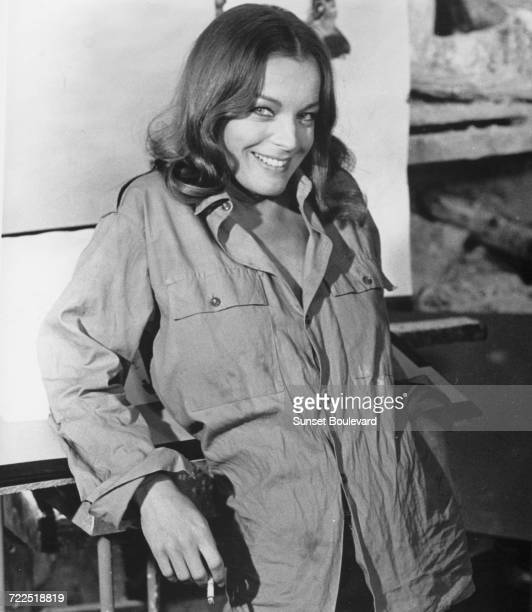 Romy Schneider on the set of 'Bloomfield' directed by Richard Harris and Uri Zohar Tel Aviv Israel 1971