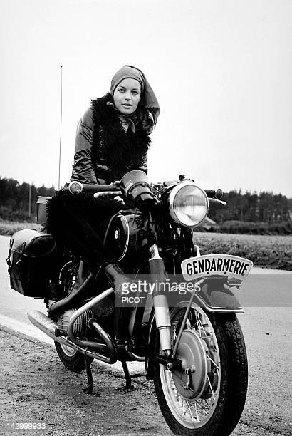 Romy Schneider on the set of 'Qui' by Leonard Keigel 1970 in France