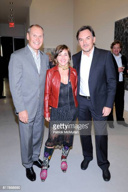 Ron Andruff Ombretta Agro and Nicola Bolla attend SPERONE WESTWATER Private Preview for New FOSTER PARTNERSDESIGNED GALLERY at Sperone Westwater...