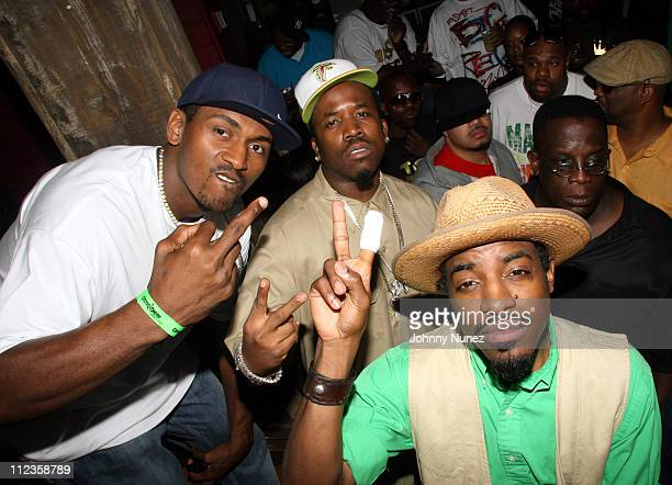 Ron Artest Big Boi and Andre 3000 during TI in Concert at The House of Blues Los Angeles June 27 2006 at House of Blues Los Angeles in Los Angeles...