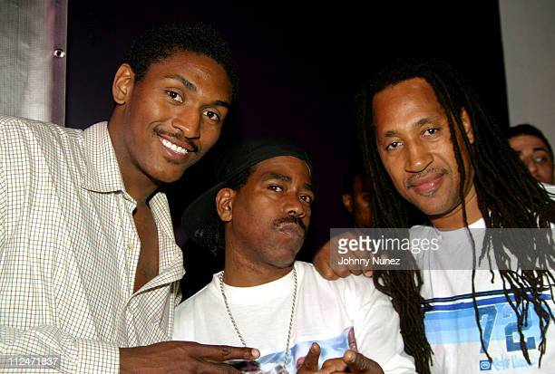 Ron Artest Kurtis Blow and Kool Herc during Mobb Deep Presents 'Amerikaz Nightmare' Album Release at Spirit in New York City New York United States