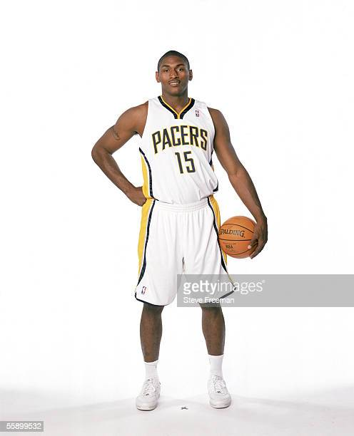 Ron Artest of the Indiana Pacers poses for a portrait during the Indiana Pacers Media Day on October 3 at the Conseco Fieldhouse in Indianapolis...