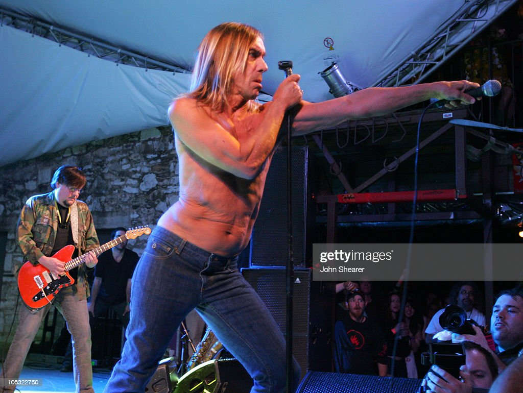 Ron Asheton and Iggy Pop of The Stooges during 21st Annual SXSW Film and Music Festival - The Stooges at Stubbs at Stubb's in Austin, Texas, United States.