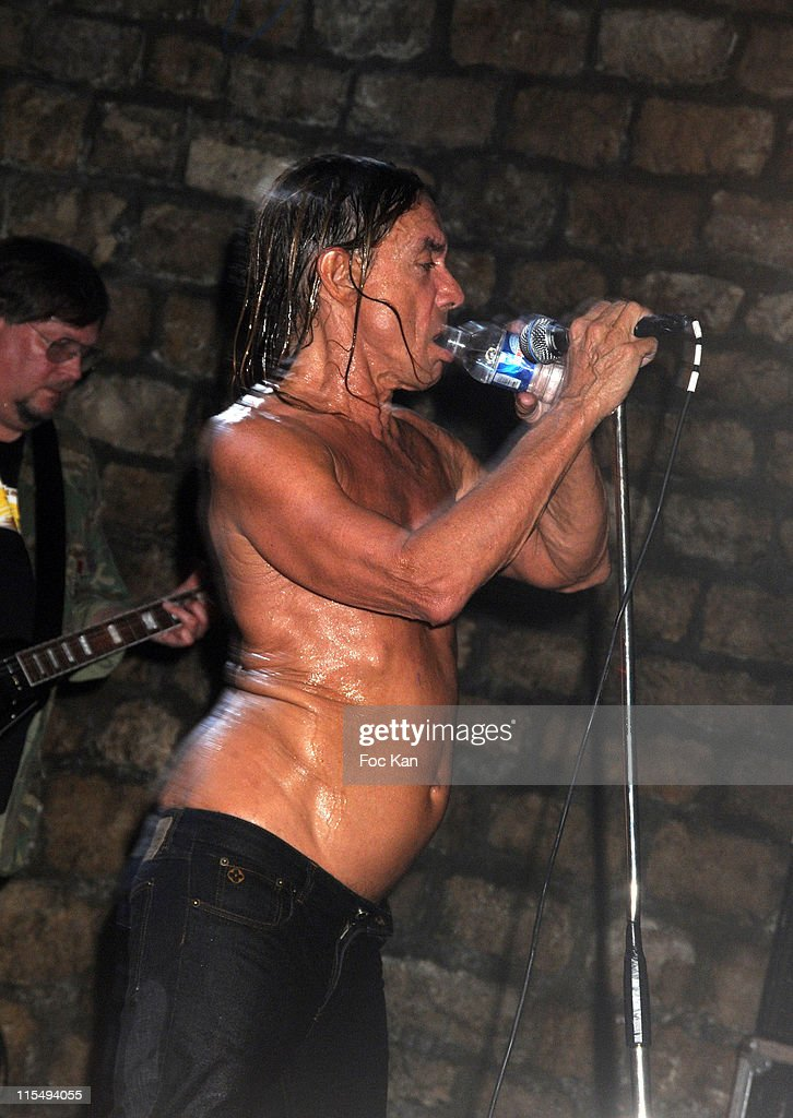 Ron Asheton and Iggy Pop of The Stooges perform at The Converse 100th Anniversary Party and Iggy Pop Concert at the Show Case Club on September 04, 2008 in Paris, France.