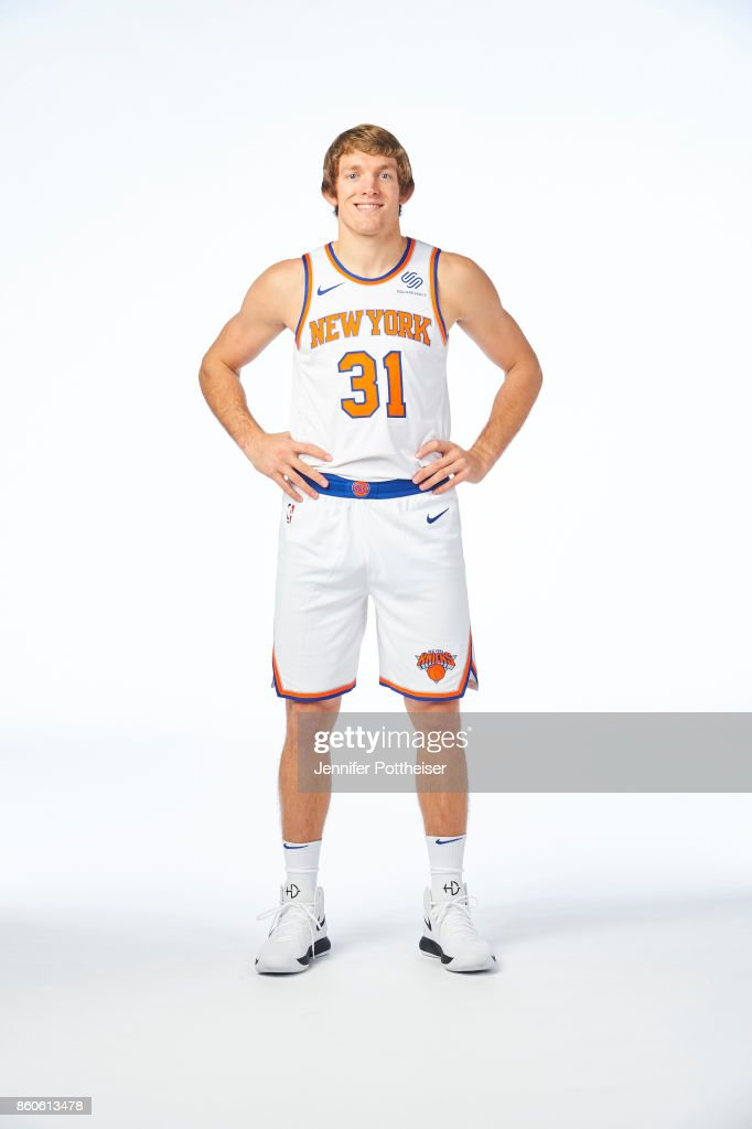 Ron Baker #31 of the New York Knicks poses for a portrait at the Knicks Practice Center on October 11, 2017 in Tarrytown, New York.