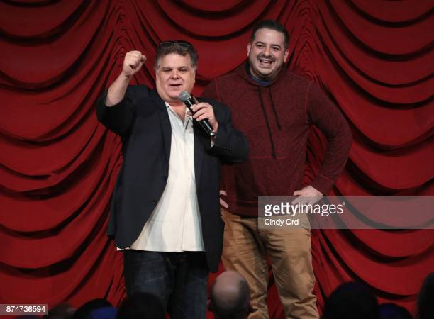Ron Bennington and Greg Stone take part in SiriusXM host Ron Bennington's annual Thanksgiving Special at Hard Rock Cafe Times Square on November 14...