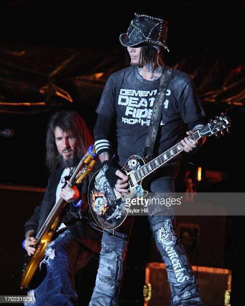 Ron 'Bumblefoot' Thal and DJ Ashba of Guns 'n' Roses perform during the 2013 Governor's Ball Music Festival at Randall's Island on June 8 2013 in New...