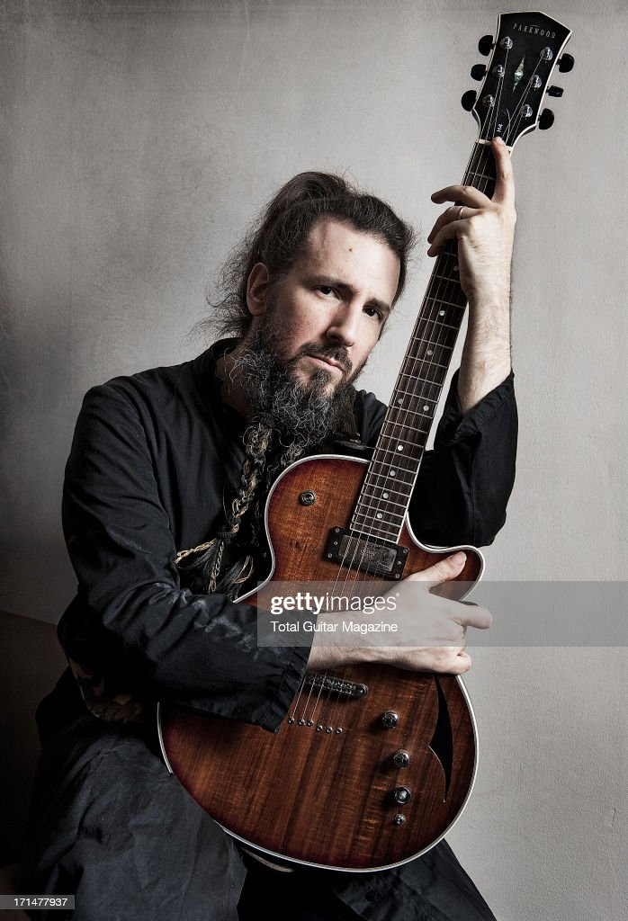 Ron Bumblefoot Thal, guitarist of American hard rock band Guns N Roses, photographed during a portrait shoot for Total Guitar Magazine, May 26, 2012.